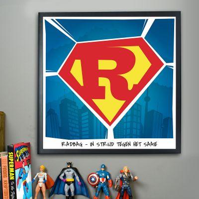 Cadeau voor kinderen - Superman – personaliseerbare Poster