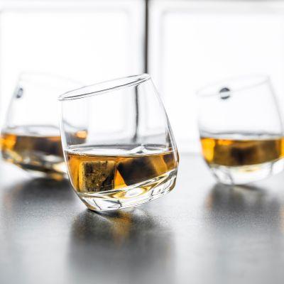 Verjaardagscadeau voor 40 - Rocking Whiskyglazen, set van 6 stuks