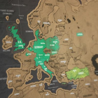 Paascadeau - Kras-wereldkaart Scratch Map Deluxe