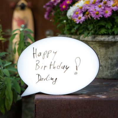Verjaardagscadeau voor 40 - Personaliseerbare Tekstballon Lamp
