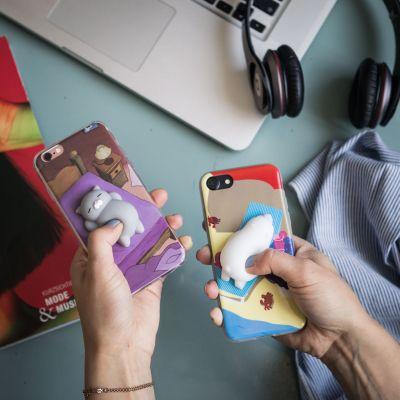 Camera & foto - iPhone hoes met diertje om in te knijpen