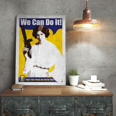 Film & Serie - Star Wars metaalposter – Leia