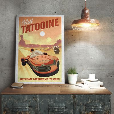 Film & Serie - Star Wars metaalposter – Tatooine