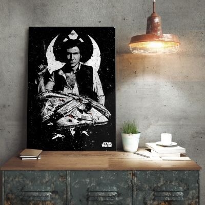 Film & Serie - Star Wars metaalposter - Captain Han Solo