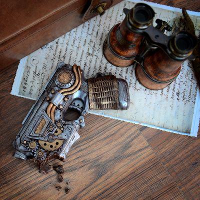 Snoepgoed - Steampunk geweer uit chocolade