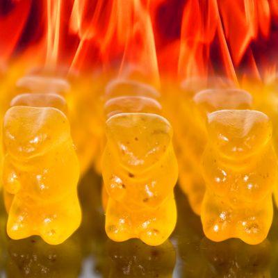 Paascadeau - Duivels scherpe gummibeertjes