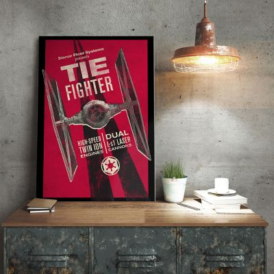 Posters - Star Wars metaalposter – Tie Fighter