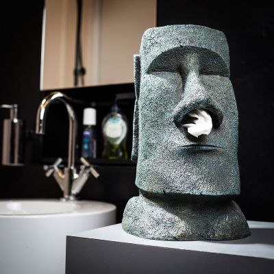 Verjaardagscadeau voor 40 - Moai tissuehouder