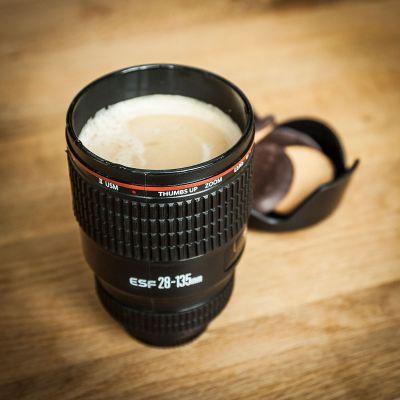 Verjaardagscadeau voor 40 - Cameralens beker