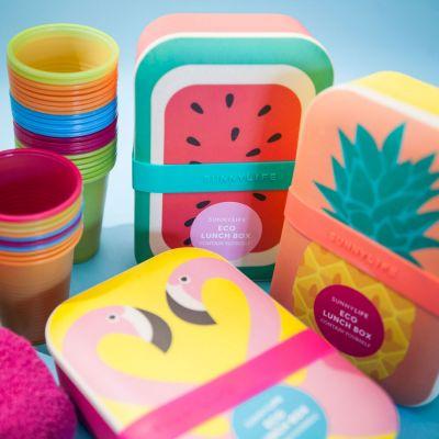 Cadeau voor kinderen - Vrolijke eco lunchboxen