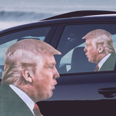 Decoratie - Trump autosticker