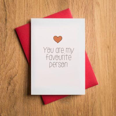 Verjaardagscadeau voor 30 - Valentijnskaart - Favourite Person