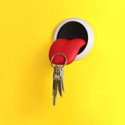 Cadeau voor koppel - Magnetische sleutelhanger tong