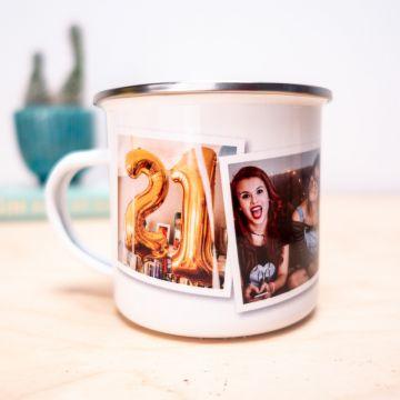 Personaliseerbare Metalen Mok met foto's