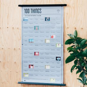 Poster met 100 dingen die je nog in je leven moet doen