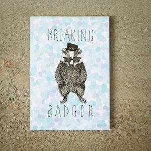 Breaking Badger wenskaart