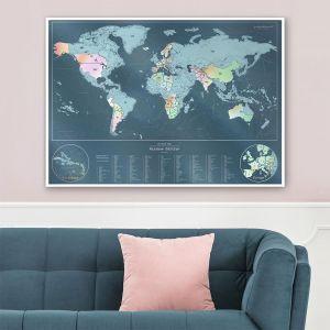 Kras wereldkaart – regenboog editie