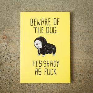 Shady Dog wenskaart