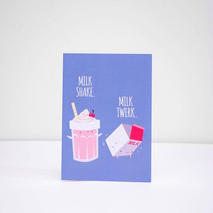 Milk shake milk twerk wenskaart