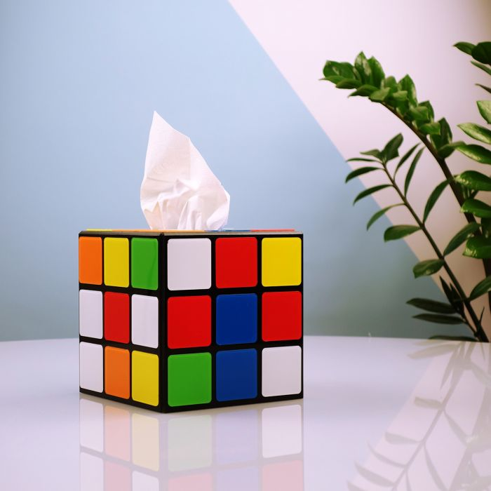 Rubik's kubus tissuedoos uit Big Bang Theory