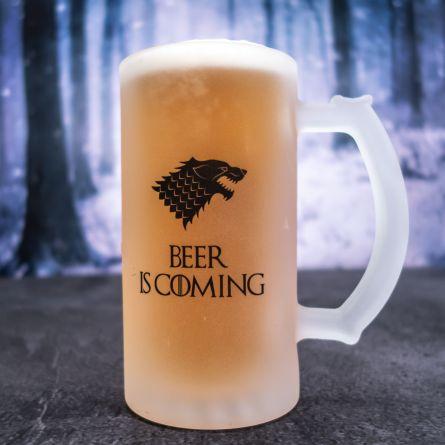 Personaliseerbare bierpul met wolf