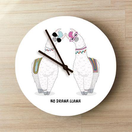 Personaliseerbare Lama Klok