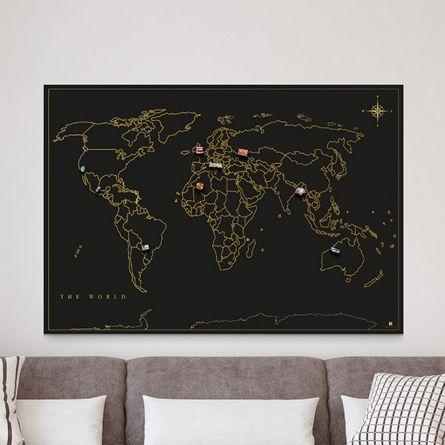 Magneet verzamel wereldkaart