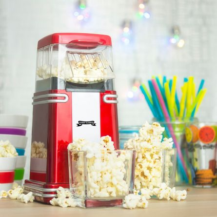 Retro mini popcorn machine