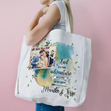 Personaliseerbare tas voor bruiloft