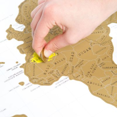 Wereldkaart om te krassen