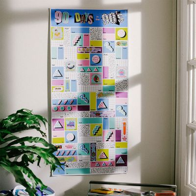 Scratch poster – 90 dagen in de Nineties