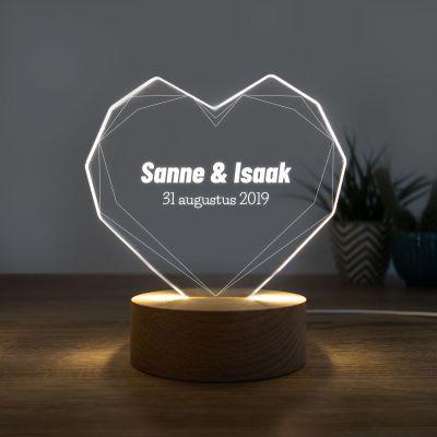 Valentijnscadeau voor hem - LED-licht met hart