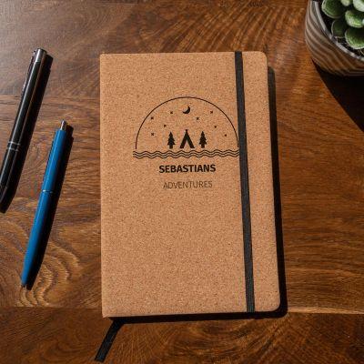 Boeken - Personaliseerbaar kurken notitieboek – Avontuur