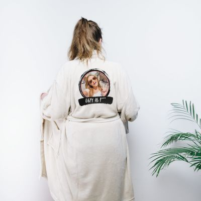 Cadeau voor haar - Personaliseerbare badjas met foto & tekst