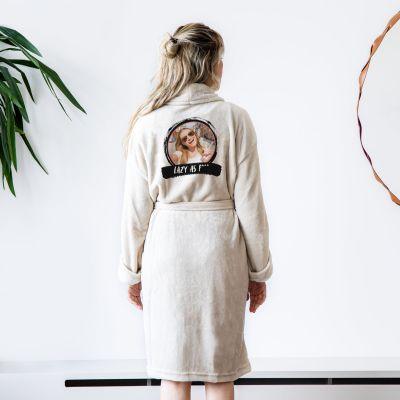 Foto cadeaus - Personaliseerbare badjas met foto & tekst