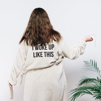 Verjaardagscadeau voor moeder - Personaliseerbare badjas met tekst
