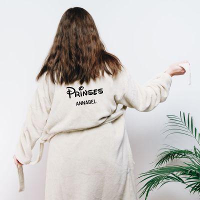 Verjaardagscadeau voor moeder - Personaliseerbare badjas prinses