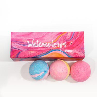 Badkamer - Bruisballen met kleuren – set van 3