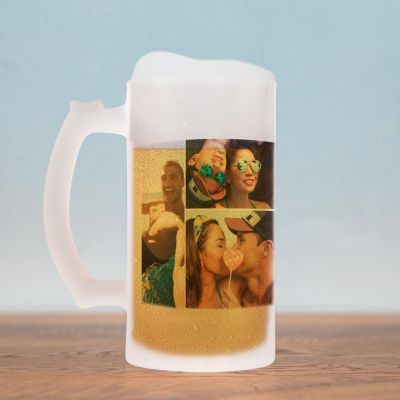Verjaardagscadeau voor 30 - Bierpul met 5 afbeeldingen
