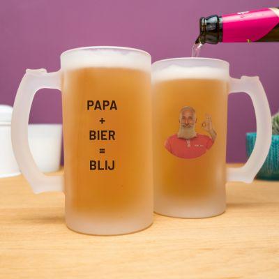 Cadeau voor papa - Personaliseerbare bierpul met foto en tekst
