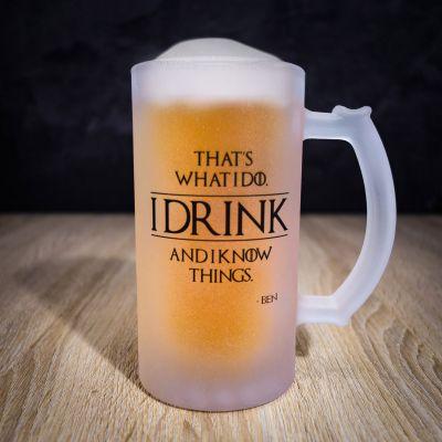 Vrijgezellenfeest - Personaliseerbare bierpul I Know Things