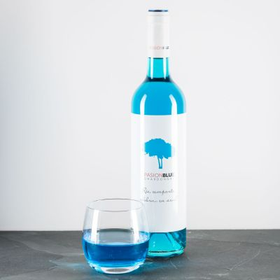 Cadeau voor vriend - Chardonnay in Blau