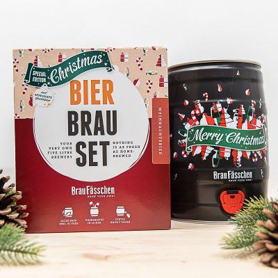 Cadeau voor vriend - Bierbrouwset Kersteditie