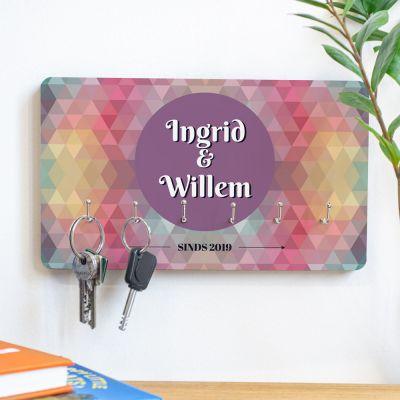Decoratie - Personaliseerbaar sleutelbord met gekleurde achtergrond