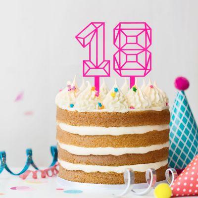 Verjaardagscadeau voor 30 - Taarttopper in nummervorm