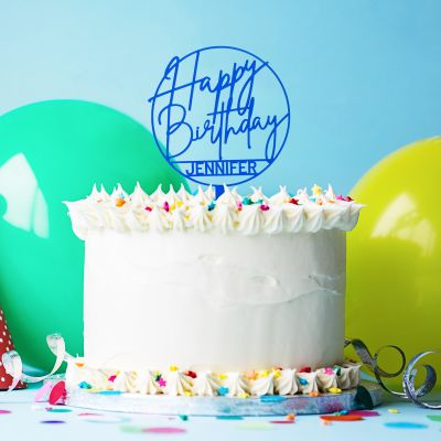 Verjaardagscadeau - Personaliseerbare taarttopper voor je verjaardag