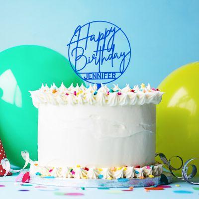 Verjaardagscadeau voor 30 - Personaliseerbare taarttopper voor je verjaardag