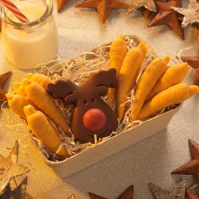 Snoepgoed - Rendier en wortelen van chocolade