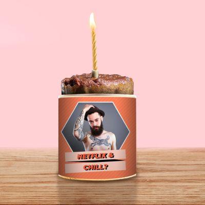 Valentijnscadeau voor haar - Cancake met foto en tekst