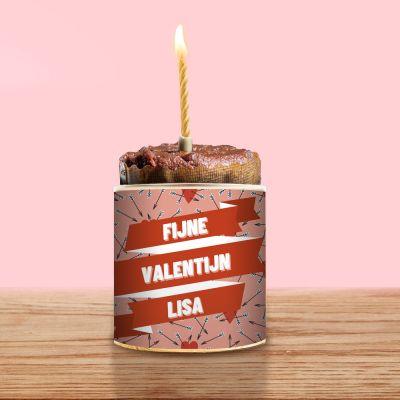 Valentijnscadeau voor haar - Cancake met tekst